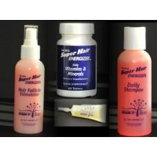SUPER HAIR TRIO Shampoo, Stimulator, Vitamins and Oil